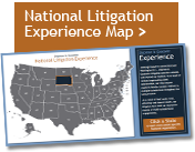 National Litigation Experience Map